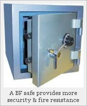 A burglary-fire safe
