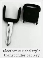 Two components of a transponder car key