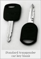 Two blank transponder car keys