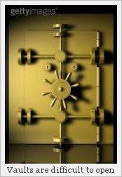 A bank vault